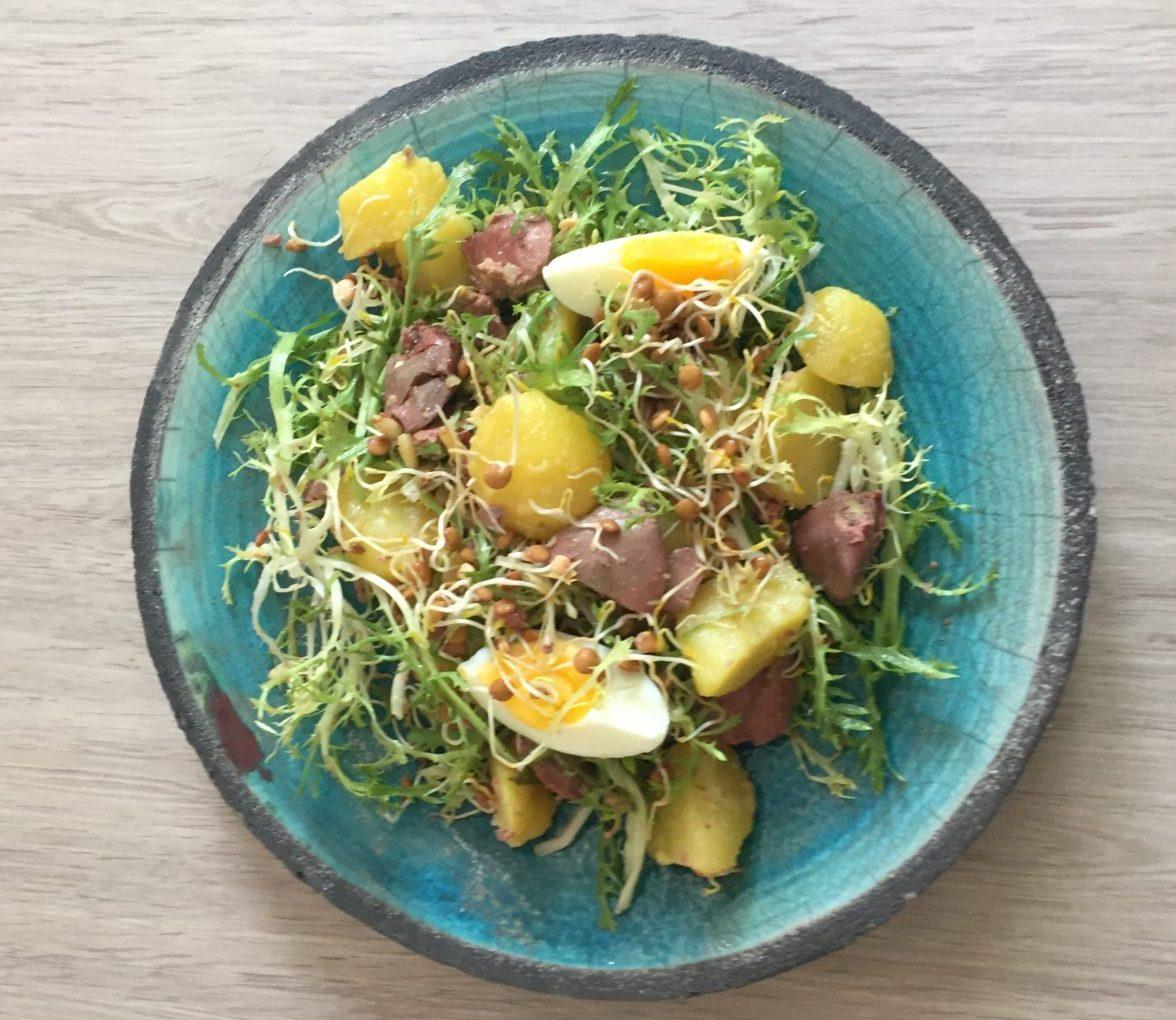 recette saine de salade chaude aux germes de lentilles bio