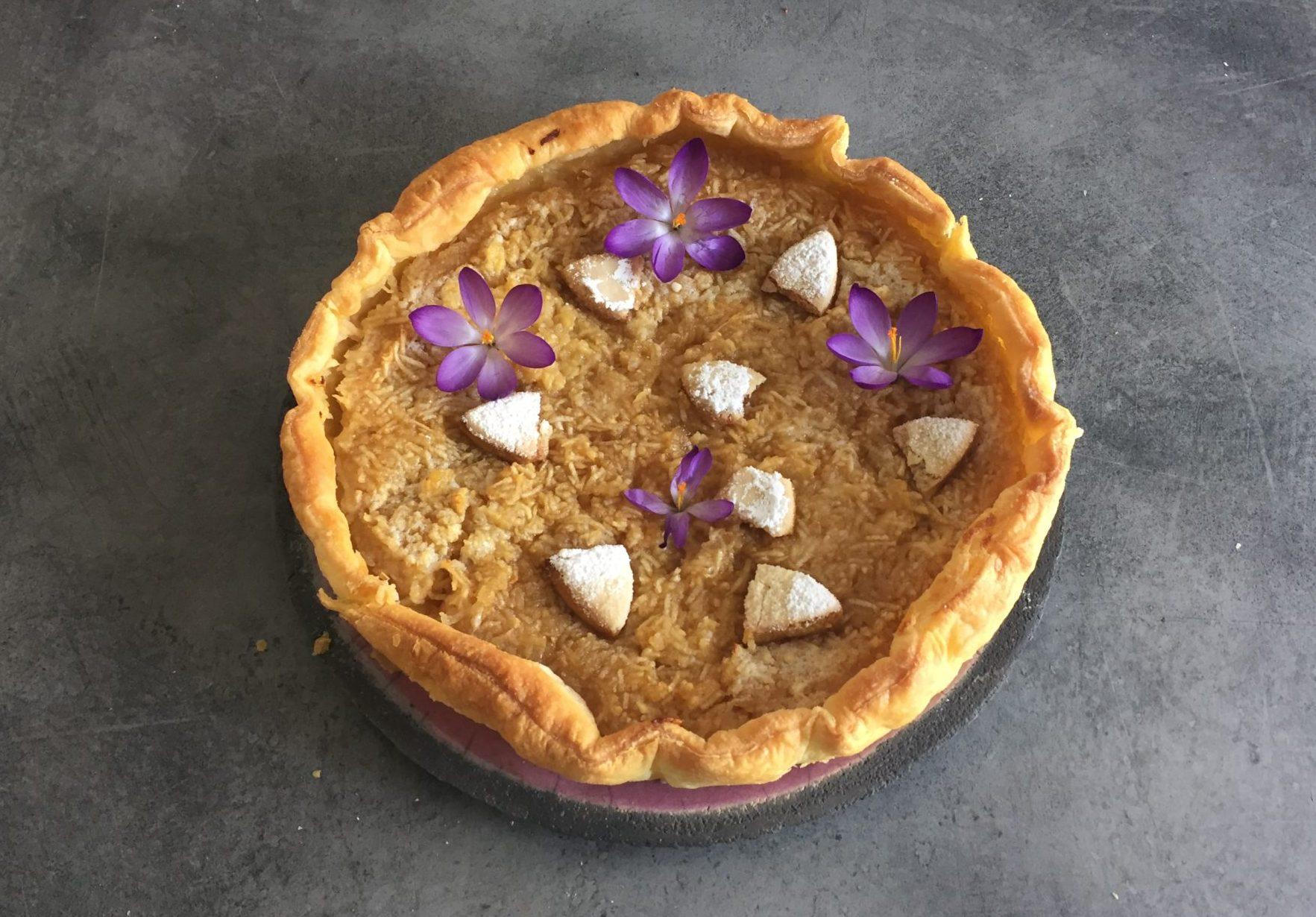 tarte aux pommes bio aux calissons