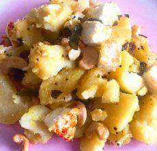Pommes de terre sautées au Paneer