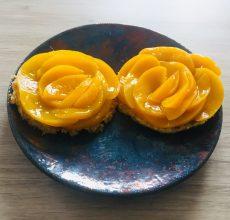 Pancake pêches et cardamome